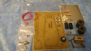 Набор №12. Размеченные заготовки и комплектующие для постройки модели класса G7 для первого года обучения - #K051